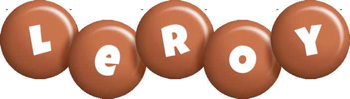 Leroy candy-brown logo