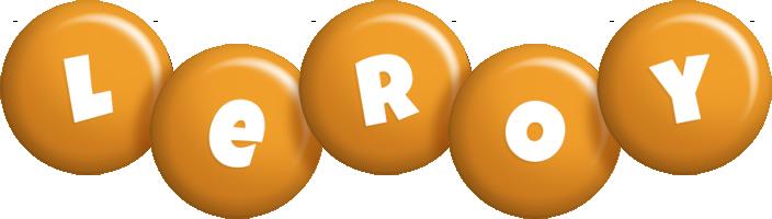 Leroy candy-orange logo