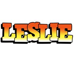 Leslie sunset logo