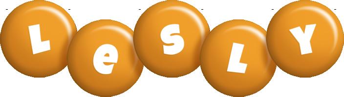 Lesly candy-orange logo