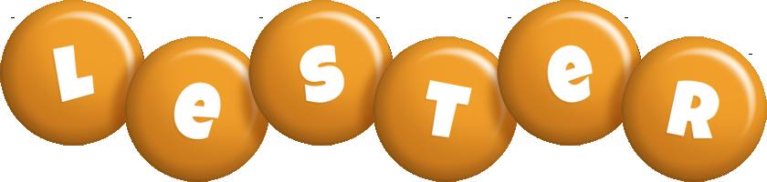 Lester candy-orange logo