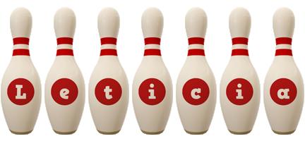 Leticia bowling-pin logo
