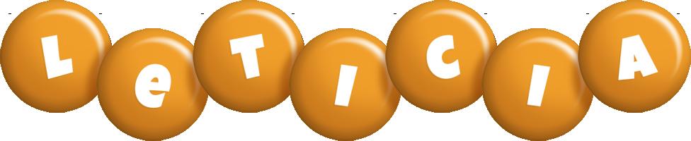 Leticia candy-orange logo