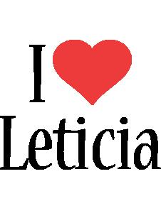 Leticia i-love logo