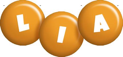 Lia candy-orange logo