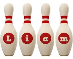 Liam bowling-pin logo