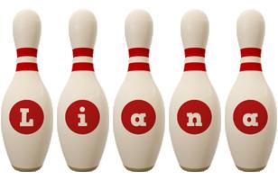Liana bowling-pin logo