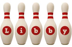 Libby bowling-pin logo