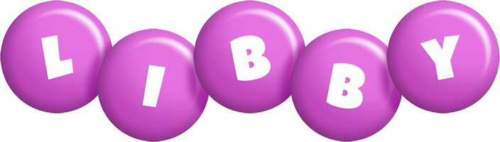 Libby candy-purple logo