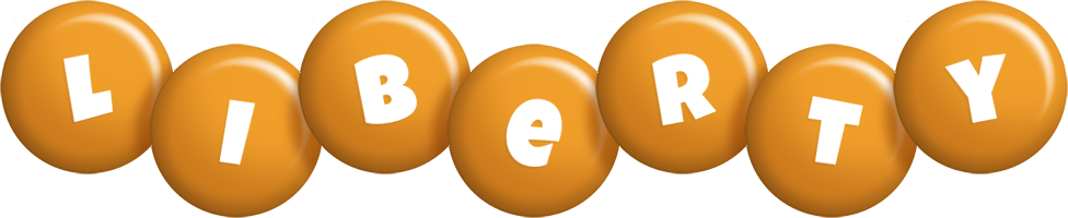 Liberty candy-orange logo