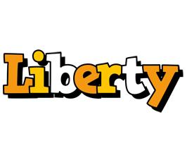 Liberty cartoon logo