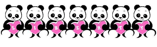 Liberty love-panda logo