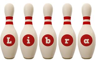 Libra bowling-pin logo