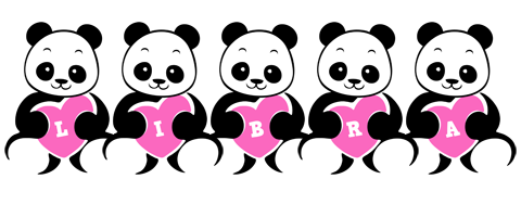 Libra love-panda logo