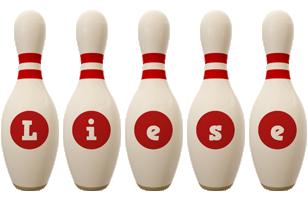 Liese bowling-pin logo