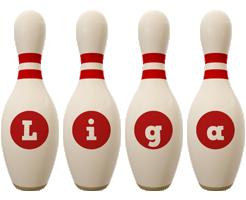Liga bowling-pin logo