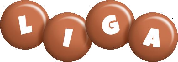 Liga candy-brown logo