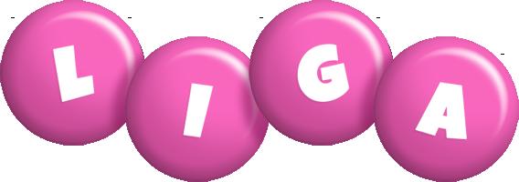 Liga candy-pink logo
