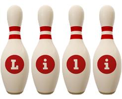 Lili bowling-pin logo