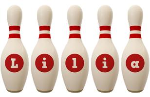 Lilia bowling-pin logo