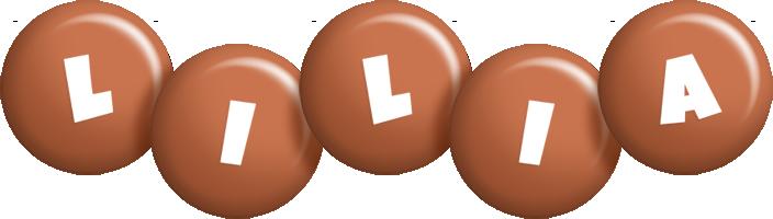 Lilia candy-brown logo