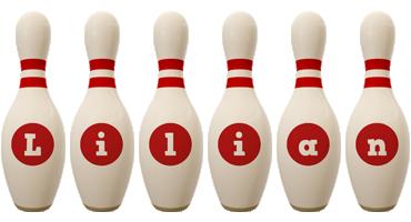 Lilian bowling-pin logo
