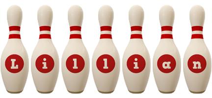 Lillian bowling-pin logo