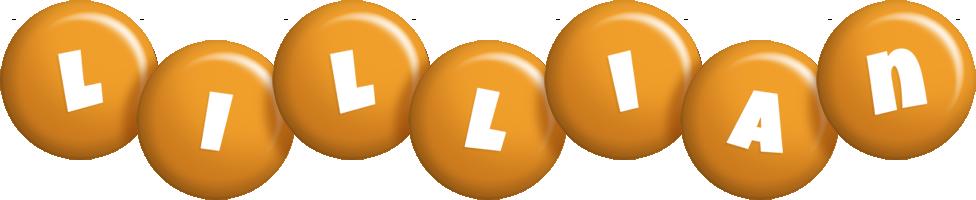 Lillian candy-orange logo