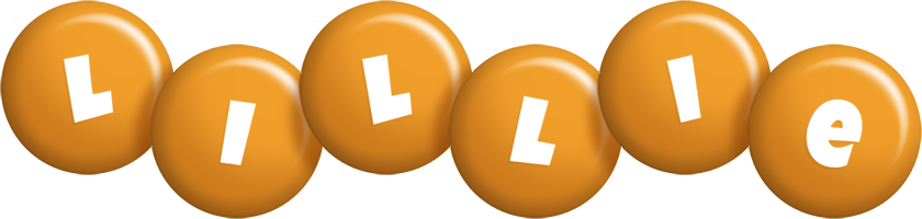 Lillie candy-orange logo