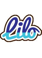 Lilo raining logo