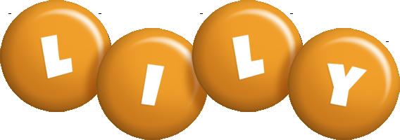 Lily candy-orange logo