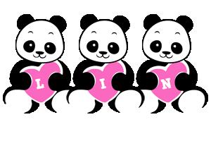 Lin love-panda logo