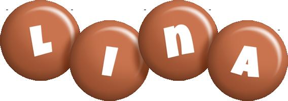 Lina candy-brown logo