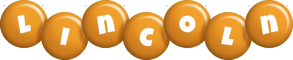 Lincoln candy-orange logo