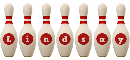 Lindsay bowling-pin logo