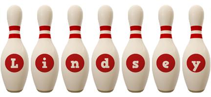 Lindsey bowling-pin logo