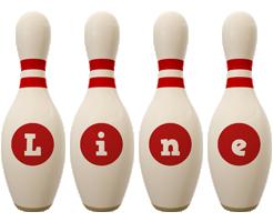 Line bowling-pin logo