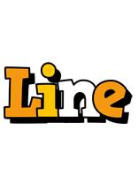 Line cartoon logo