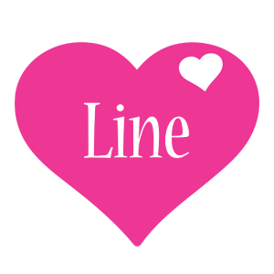 Line love-heart logo