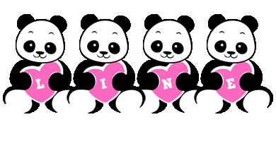 Line love-panda logo