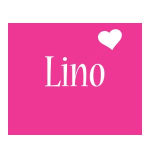 Lino love-heart logo