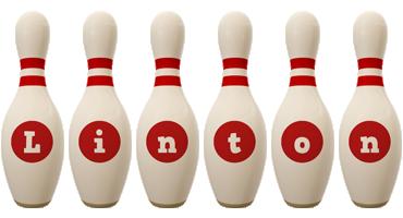 Linton bowling-pin logo