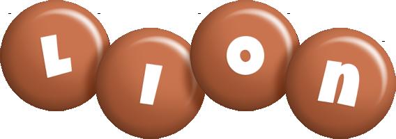Lion candy-brown logo