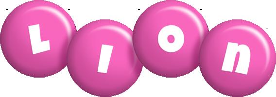Lion candy-pink logo