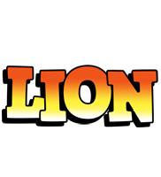 Lion sunset logo