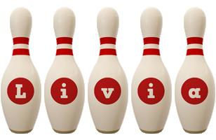 Livia bowling-pin logo
