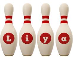 Liya bowling-pin logo