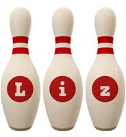 Liz bowling-pin logo