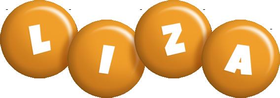 Liza candy-orange logo