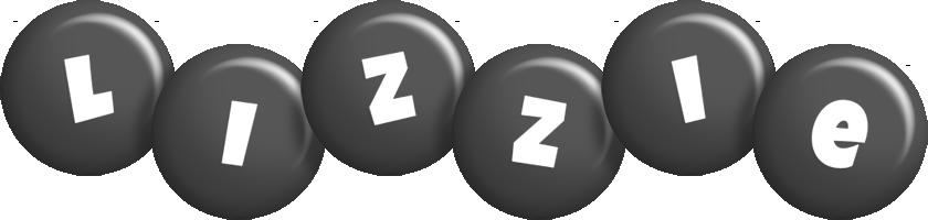 Lizzie candy-black logo